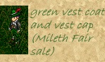green vest coat and cap, Mileth Fair Sale