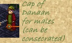 Cap of Danaan, can be consecrated to a god